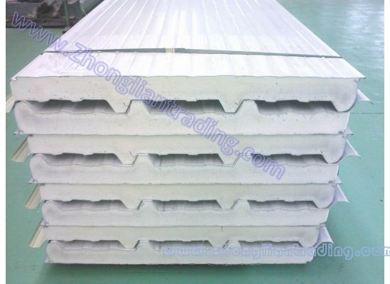 Sandwich panel for roofing and wall sandwich panel for for Panneau sandwich toiture plate